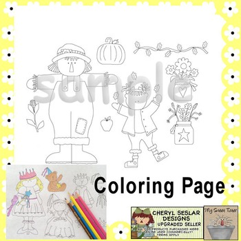 Happy Harvest Coloring Page