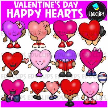 Happy Hearts Clip Art Bundle
