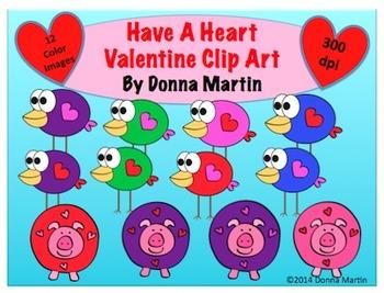 Have A Heart Valentine Clip Art Set