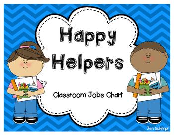 Happy Helpers Classroom Jobs Chart