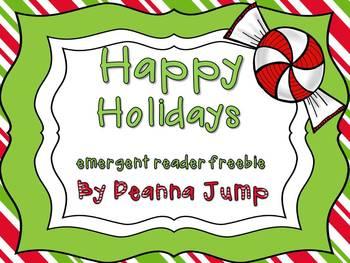 Happy Holidays Emergent Reader FREEBIE