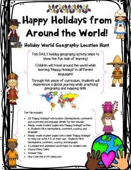 Happy Holidays from Around the World! Daily A to Z World G