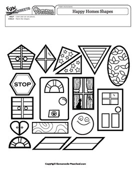 Happy Homes Shapes Matching