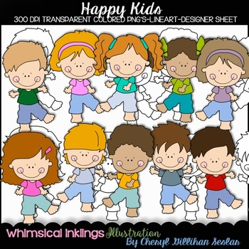Happy  Kids Clipart Collection