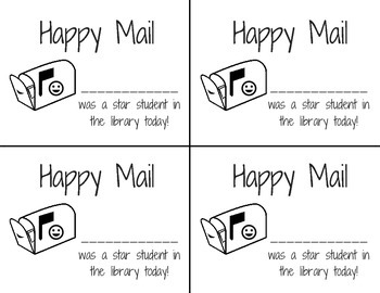 Happy Mail - Positive Notes Home from School Library