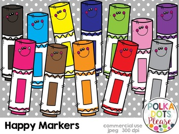 Happy Markers {Graphics for Commerical Use}