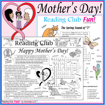Happy Mother's Day Two-Page Activity Set