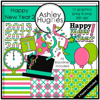 Happy New Year 2 {Graphics for Commercial Use}