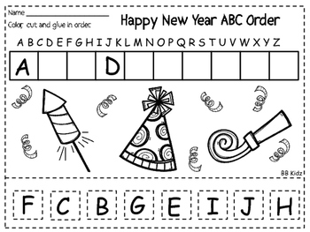 Happy New Year 2016 Free worksheet on ABC Order