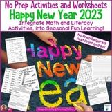 Happy New Year 2017 No Prep Printables
