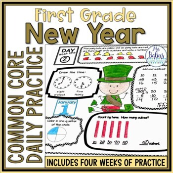 New Year {Happy New Year!} Common Core Math Practice First Grade