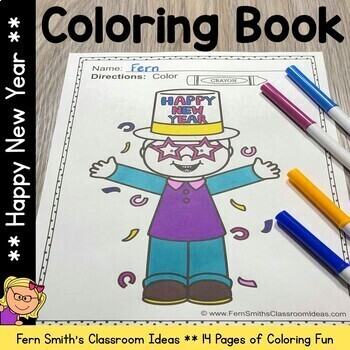Coloring Pages for New Years