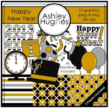 Happy New Year {Graphics for Commercial Use}