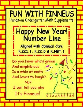 Happy New Year! Number Line   K.CC1, K.CC5 &  K.NBT1