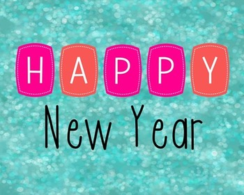 Happy New Year Poster, Class Decor, Holiday Sign, Bulletin Board