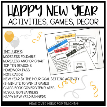 Happy New Year Resolutions Pack {Banner, Student Banners,