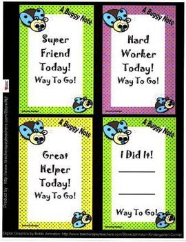 Happy Note Reward Cards-Buggy Theme