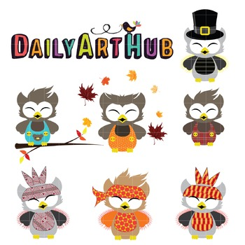 Happy Owl Clip Art - Great for Art Class Projects!