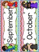 Happy Rainbow Classroom Decor Set (Chevron pattern)