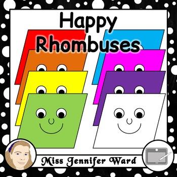 Happy Rhombus Clipart
