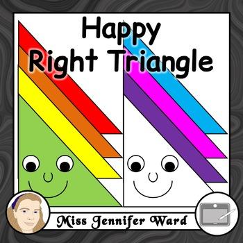 Happy Right Triangle Clipart