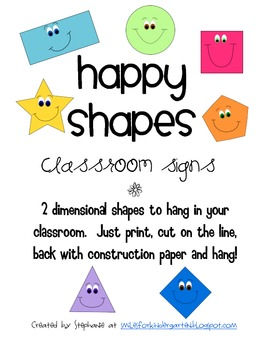 Happy Shapes Posters