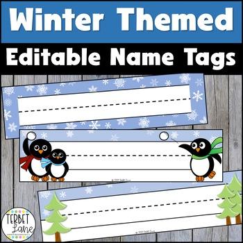 Happy Snowmen Name Plates