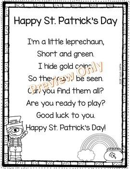 Happy St. Patrick's Day - Poem for Kids