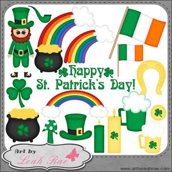 Happy St. Patrick's Day 1 - Art by Leah Rae Clip Art & Lin
