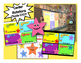 Happy Star Themed Math Stations automated powerpoint for s
