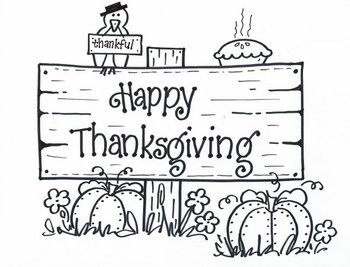 Happy Thanksgiving! SIGN