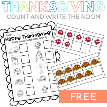 Happy Thanksgiving! Count and Write the Room Activity