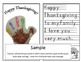 Thanksgiving Craft English Spanish