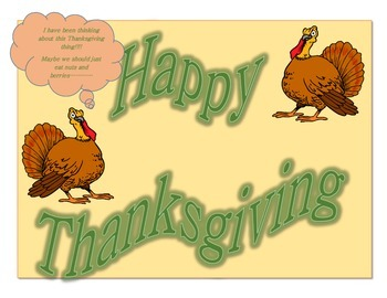 Happy Thanksgiving Mini Poster