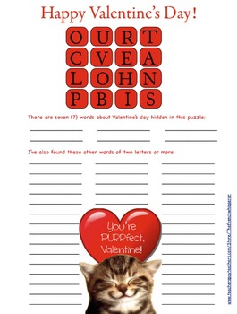 "Happy Valentine's Day (""How Touching"" is a bit like Boggle™.)"