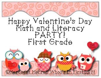 Freebie- Happy Valentine's Day Math and Literacy Party! Fi