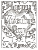 Happy Valentines Day To You Coloring Sheet