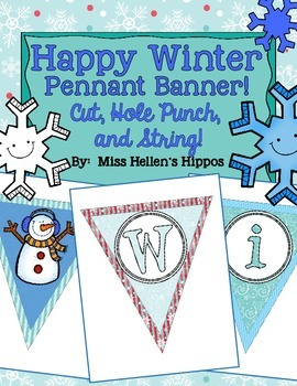 Happy Winter Pennant Banner