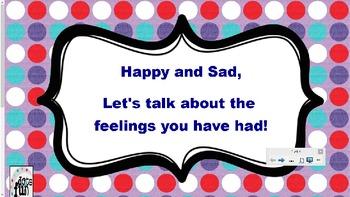 Happy and Sad Feelings Smart Board Lesson