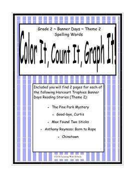 Harcourt Banner Days (Theme 2)  Grade 2 Spelling ~ Color I