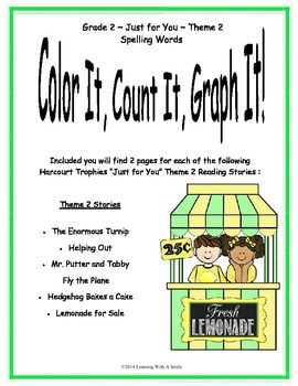 Harcourt SECOND GRADE Theme 2 (Just for You) Color, Count,