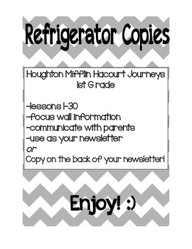 Harcourt : Journeys : 1st Grade - Fridge Copies