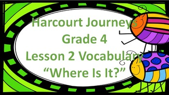 "Harcourt Journeys 4th Grade My Brother Martin Vocab ""Where"