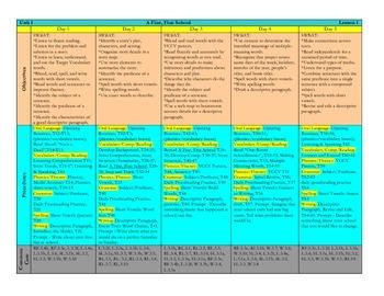 Harcourt Journeys 2011 Grade 3 Units 1 - 3 Lesson Plans