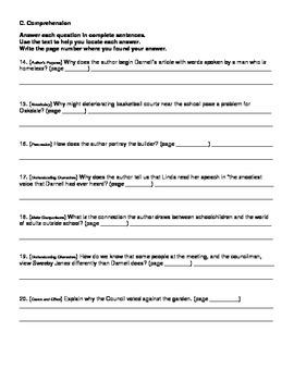 Harcourt Journeys Grade 5 (2012) Unit 4 Story 4 Comprehens