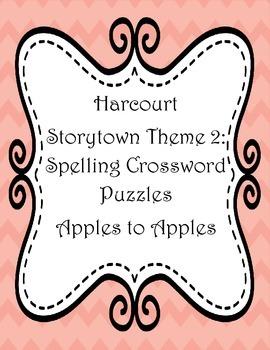 Harcourt Spelling Word Crosswords Theme 2