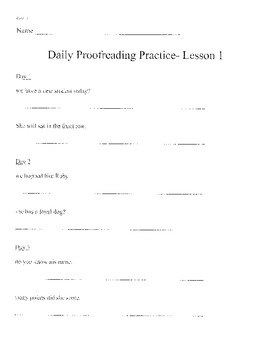 Harcourt StoryTown Grade 3 Daily Proofreading Lessons 1-30
