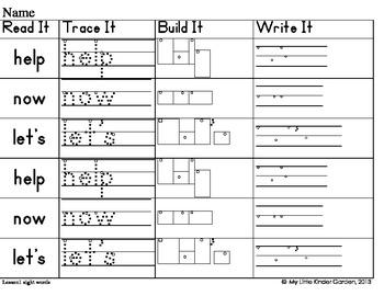 Read It, Trace It, Build It, Write It-Harcourt First Grade