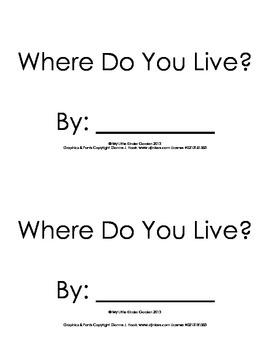 "Harcourt Storytown K, lesson 14, Where do you Live?  hfw """