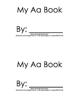 Harcourt Storytown K, lesson 6-My Aa book, Look at the-hfw